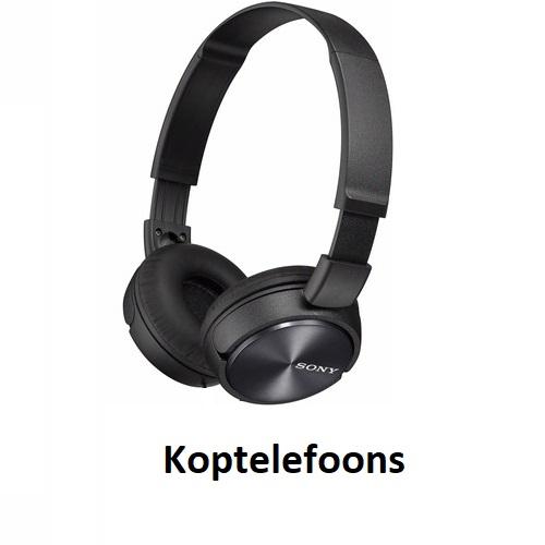 Hoofdtelefoon homepagina